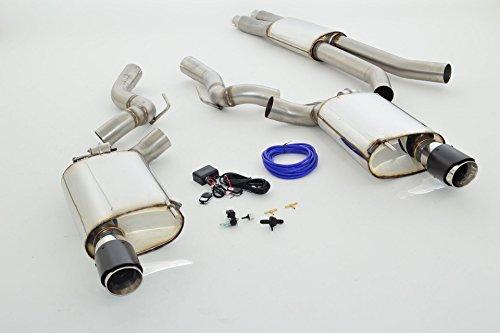 Preisvergleich Produktbild Tuning-Pro Friedrich Motorsport Sportauspuff 76mm Duplex-Anlage mit Klappensteuerung, 991206KL-X3-x