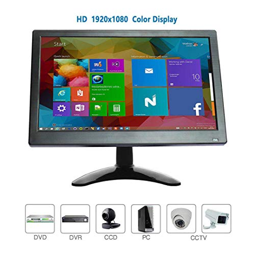 12 Zoll CCTV HDMI Monitor LCD IPS 1920 * 1080 Audio Video Display mit USB/VGA/AV/BNC/HDMI Bildschirm drehbar für Raspberry Pi House Überwachungskamera PC DVD DVR