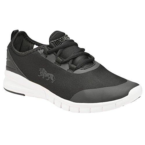 Lonsdale Zambia, Blanco / Negro Zapatos Deportivos Para Mujer Al Aire Libre