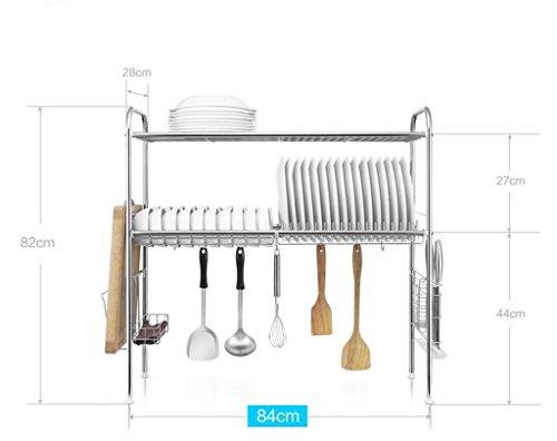 étagère de rangement porte-bol en acier inoxydable / étagère Plonge / cuisine étagères Étagère d'armoire ( Couleur : 4# )