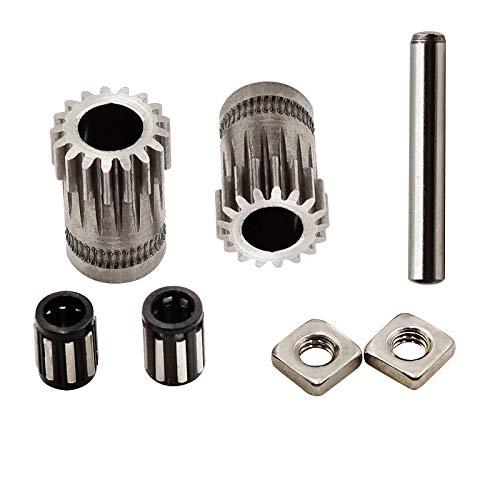 FYSETC 3D-Drucker-Zubehör, Prusa i3 MK2 / MK3 Teile, geklonte Btech Dual Gears DIY Prusa i3 Stahlscheiben Kit 3D-Drucker Getriebe, Extrusionsrad, 1 Set