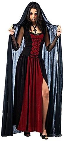 Halloween - Cape Vampire Noir - Accessoire Déguisement Femme - L