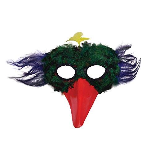 Mit Ideen Kostüm Masquerade Masken - Bristol Novelty EM016Vogel Feder Augenmaske, mehrfarbig, one size