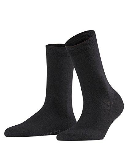 Wolle Feuchtigkeit (FALKE Damen Softmerino Wolle/Baumwolle Einfarbig 1 Paar casual Socken, Blickdicht, black (3009), 41-42)
