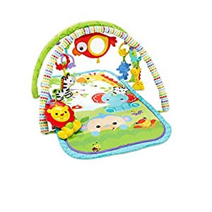 ce7f167c2 Fisher Price CHP85 Rainforest Friends 3-in-1 Musical Activity Gym ...