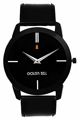 Golden Bell Analogue black Dial men Watch GB-753BlkD