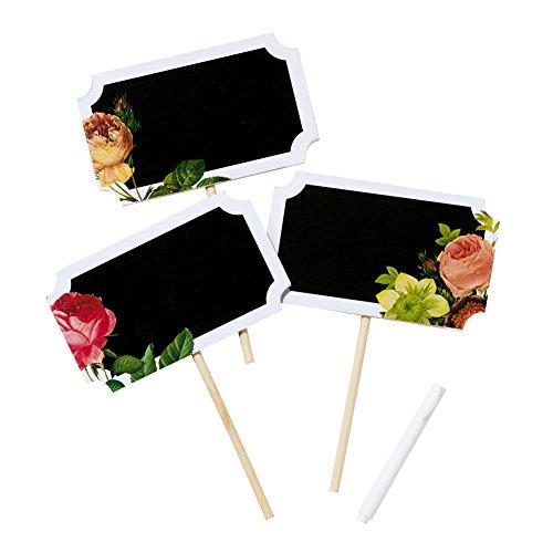 Talking Tables Schultafel Zeichen mit Blumen