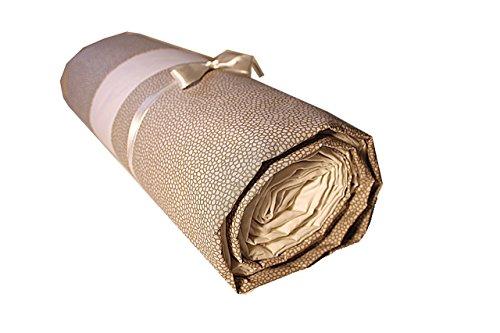 Ricami fiorentini completo lenzuola matrimoniali beige in morbido cotone100% made in italy anche su misura maxi king size