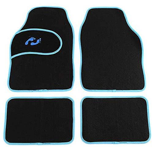 Schwarz Auto Fußmatten Universal Fit Decke Fit Vorne Hinten Matte 4 stücke Teppich Set Automotive Zubehör Interieur für Auto SUV, Van & Trucks (Mazda 6 2010 Zubehör)
