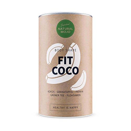 Natural Mojo Fit Coco - Superfood Body Shaper natürlich, glutenfrei u.a. mit Kokos, Grüner Tee, Granatapfel, Papaya und Flohsamen (Granatapfel-kokos)
