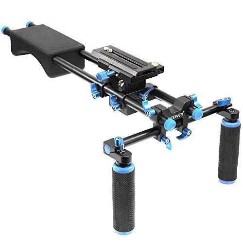 Neewer tragbares Filmmaker-System mit Kamera/Camcorder Montage Slider, Weichgummi Schulterpolster und Dual-Hand Handgriff für DSLR Videokamera and DV-Camcorders