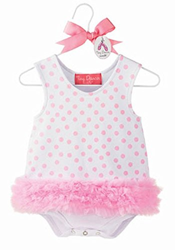 Mud Pie 171914 Shift Onesie Body weiß Punkte rosa (Mud Pie Weiß)