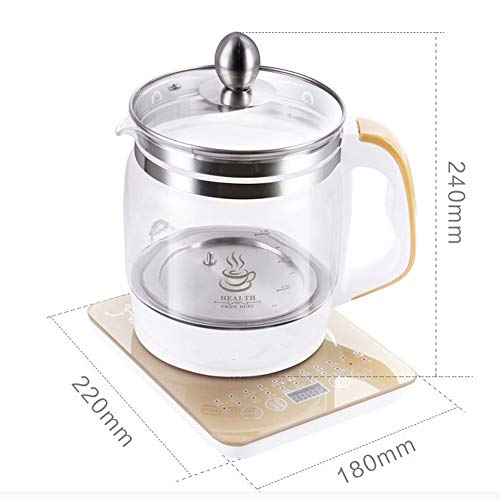 ZYJ Electric Kettle Health Pot Thickening Explosion-Proof Glass Pot Body Tea Maker 1.8l mit Dampf One Egg Rack