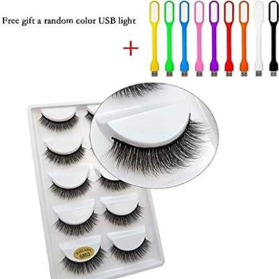 Natural Look Fake Eye Lash False Eyelashes Extension Makeup 5 Pairs : everything five pounds (or less!)