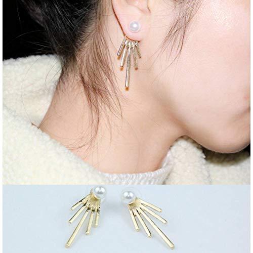 YCEOT Ohrringe Punk Dreieck mit Flamme Ohr Jacke Rose Gold Farbe Ohrstecker für Frauen Ohrringe (Flamme Ohrringe)