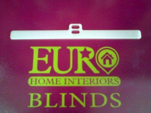 Clip Blind (50 Vertical blind slat hangers - 127mm (5 inch) - Superior UV Stabilised vane holder clips by VERTICAL BLIND SPARES)