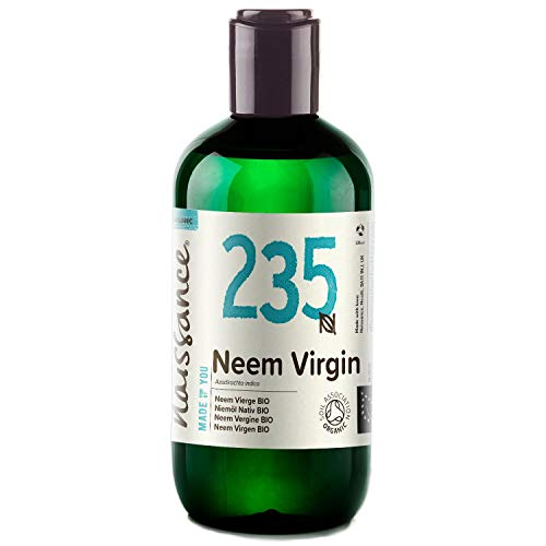 naissance olio di neem vergine certificato biologico pressato a freddo 250ml - puro e naturale al 100%, vegano e senza ogm