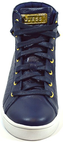 Guess Sneaker Donna Bottes Gloria Active Lady Eco Leather chaîne or Bleue