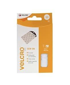 VELCRO Brand Pastilles auto agrippantes à coudre 19mm x 16 blanc