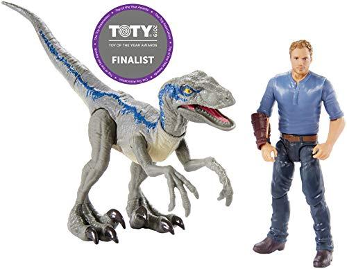 Jurassic World Pack of 2 figures Owen, Jurassic world toys (Mattel FMM51)
