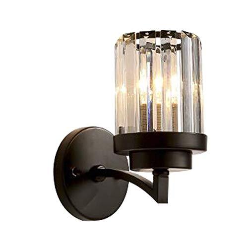 WUYI American Crystal Single Head Wandleuchte Einfache Wohnzimmer Schlafzimmer Nachttischlampe Treppe Gang Wandleuchte Wand Typ Engineering Lampe -