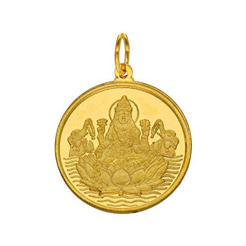 Sri Jagdamaba Pearls22kt 1 GramLakshmi Gold Coin cum Pendant