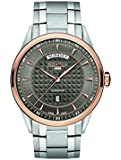 Roamer Superior Day Date Men's Quartz Watch with Grey Dial Analogue Display and Silver Stainless Steel Bracelet