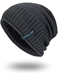 Ihengh Unisex Winter Mütze Männer Frauen Baggy Warm Häkeln Winter
