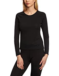 Berghaus Women's Essential Long Sleeve Crew Baselayer - Black, Size 8