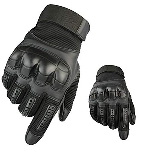 IN THE DISTANCE Tactical Glovestouch Screen Tactical Gloves Military Paintball Army Anti-Skid Gomma Knuckle Full Finger Guanti Moto Guanti, Nero, XL