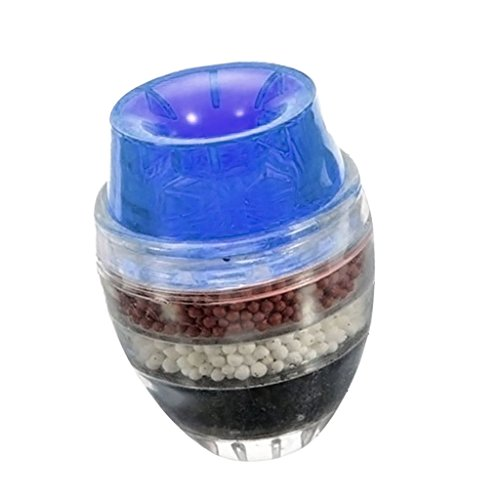 Baoblaze 5-Layer Carbon Purifier Wasser Filter Wasserfilter Wasserhahn Hahn für Küchen