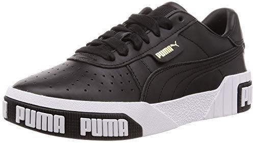 Puma Damen Cali Bold WN's Sneaker, Black-Metallic Gold 03, 8.5 EU Vintage Slip