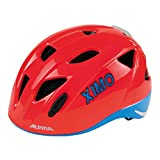 Alpina Kinder Ximo Flash Fahrradhelm, Neon Red/Blue, 45-49 cm