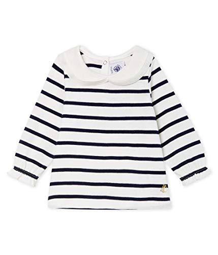 Petit Bateau Baby-Mädchen Blouse ML_5051201 Bluse, Mehrfarbig (Marshmallow/Smoking 01), 92 (Herstellergröße: 24M/86cm)