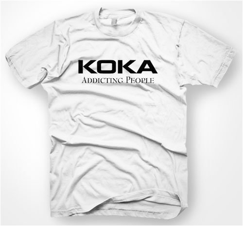 KOKA COCAINE T-SHIRT S-XXL ADDICT DRUGS DROGEN NEU FUN (Addict T-shirt Weißes)