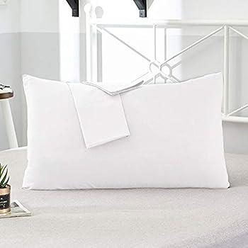 AMZ Exclusive Premium & Soft Quality 2 Piece Cotton Pillow Cover Set (17 x 27 Inches, White)