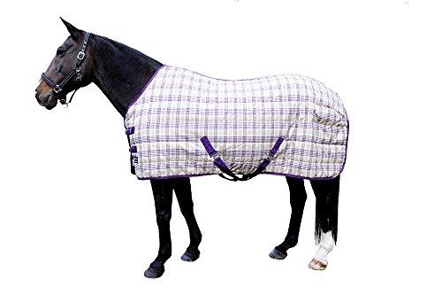 HKM Stalldecke -Connecticut- mit 300D Polyester, lila/karo, Rückenlänge 125 cm