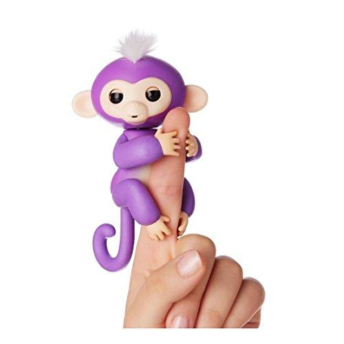 FINGERLING Pet Electronic Little Baby Monkey Kinder Interaktives Spielzeug, violett, Einheitsgröße