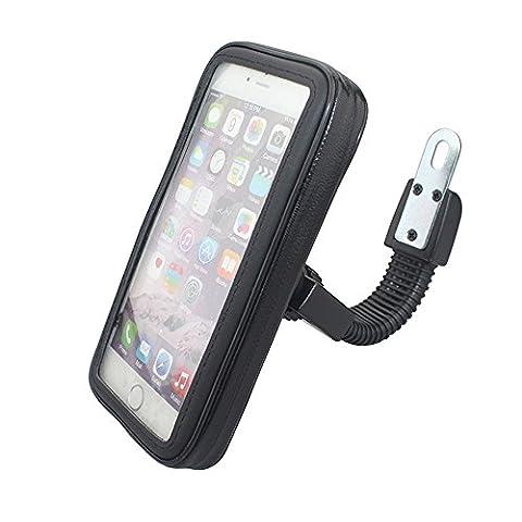 Cheeroyal Universal WaterProof Mont Motorcycle Case Moto stand Phone Holder Rétroviseur Support pour iPhone pour Samsung téléphone S4 S5 S6 S7 Note 2 3 4 5 iPhone 4 5 6 6s 6 Plus LG HTC (M)