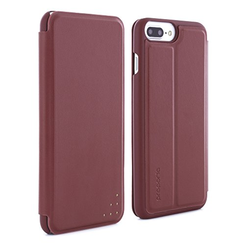 Official PROPORTA® Branded Ultra Slim HEAVY-DUTY Case for Apple iPhone 8 Plus / 7 Plus - ALUMINIUM Lined Slim Multi Angle Stand Case for iPhone 8 Plus / 7 Plus - Black / Silver berry/rose gold