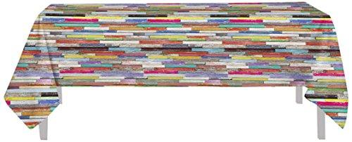 Soleil d'ocre Nappe Toile cirée Rectangle 160x240 cm Atlantique, PVC, Multicolore
