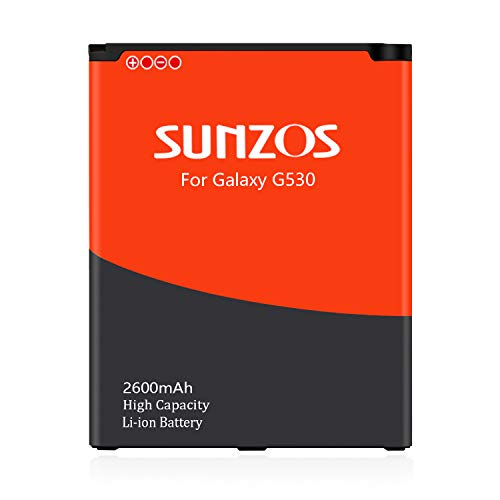 SUNZOS Akku für Samsung Galaxy J3 2016 (SM-J320F), Galaxy J5 2015 (SM-J500FN), Galaxy Grand Prime SM-G530F Ersatz Original EB-BG530BBE/BG531 Batterie 2600mAh - 3 Jahre Garantie