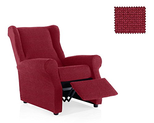 JM Textil Copripoltrona reclinabile Portitxol Dimensione 1 Posto (Standard), Colore Rosso (Vari Colori Disponibili)