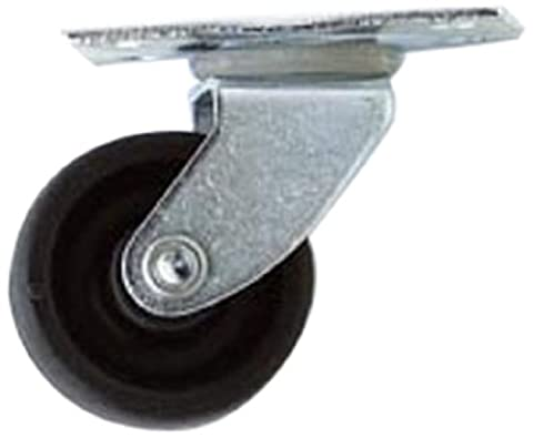 Bulk Hardware BH01549 30mm (1.1/4 inch) Single Wheel Castors Casters, Plate Fix - Pack of 4