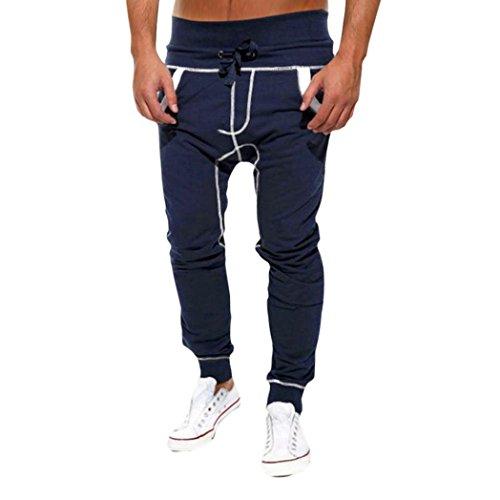 Baggy Harem Pants Herren Striped Gummiband Hose Herren Jogger Dance Sportwear Hosen Hosen Jogginghose Knit Harem Pants