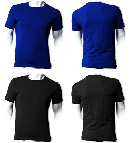 Emporio Armani Herren T-Shirt mit Rundhals-Ausschnitt 7P717111267 Schwarz
