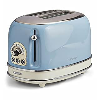 Ariete Vintage 155 LB Retro 2 slice Toaster Light Blue
