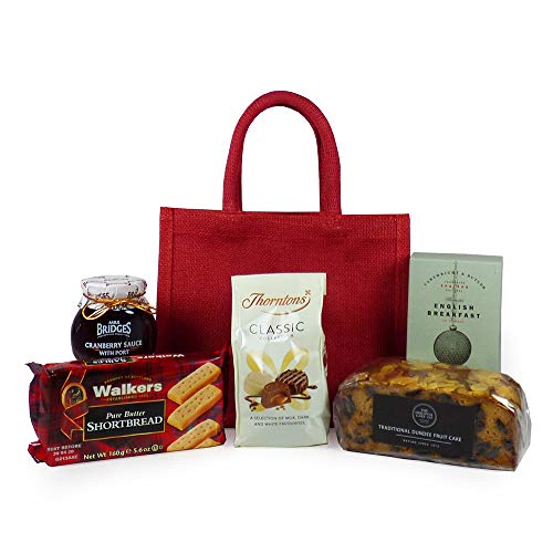'Mum's Gourmet Afternoon Tea' Food Gift Hamper Presented in a Red Gift Bag - Perfect Gift for Mother's Day
