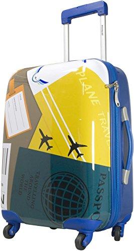 ABS Hartschalen Kofferset mit Leichtlaufrollen verschiedenen Motiven Neapel