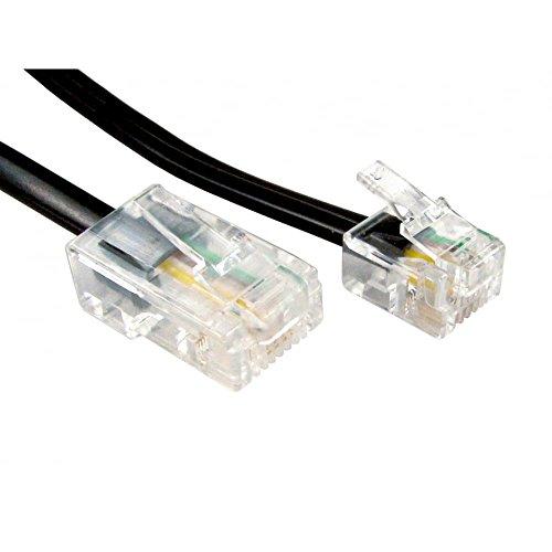 World of Data da 1m a 20m RJ11 (ADSL) a cavo RJ45 (rete) - utilizzato per collegare modem o router alle maschere filtrate ADSL. Colore: Nero Dimensioni: 3m